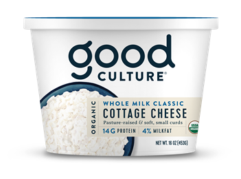 Organic Cottage Cheese Whole Milk Classic 4%, 16 oz
