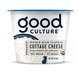 Organic Cottage Cheese Whole Milk Classic 4%, 5.3 oz